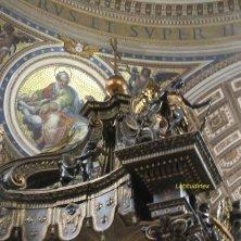 mosaici evangelisti e baldacchino
