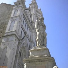 statua Dante a Firenze