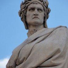 volto statua Dante a Firenze