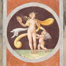 Giulio Romano e allievi Venere allo specchio e Amore Volta del Camerino di Venere 1527 affresco Mantova Palazzo Te Gian Maria Pontiroli @fondazionepalazzote