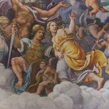 Giulio Romano e allievi Venere con Marte e Cupido nell'Olimpo Volta della Camera dei Giganti 1530-1534 affresco Mantova Palazzo Te Gian Maria Pontiroli @fondazionepalazzote