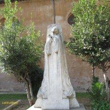 statua Giovanna d'Arco al giardino di Sant'Alessio