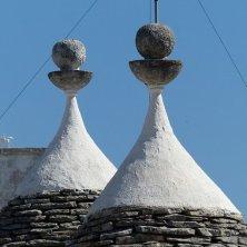particolare del tetto dei trulli