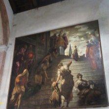 Presentazione della Vergine al Tempio Tintoretto chiesa Santa Maria dell'Orto