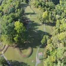 Serpent Mound nella vegetazione