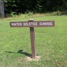 indicazioni solstizio inverno a Serpent Mound
