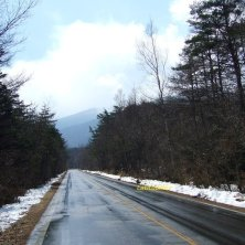 neve a bordo strada