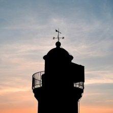 tramonto Bretagna faro