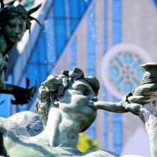 Leipzig dettaglio fontana