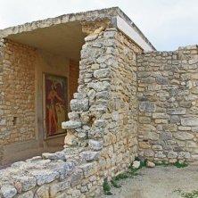 resti affresco palazzo Cnosso