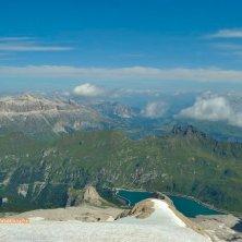 Marmolada_da Punta Rocca vista su Lago Fedaia e Gruppo del Sella_phVGaluppo