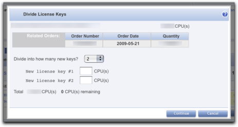Dividing Up a vSphere License Key