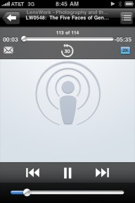 iPhone Podcast Screen