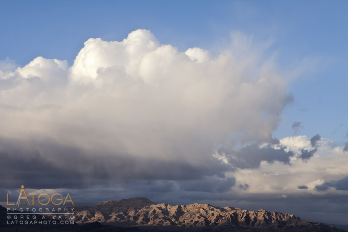 Breaking Light & Storm Cloud near California-Nevada Border