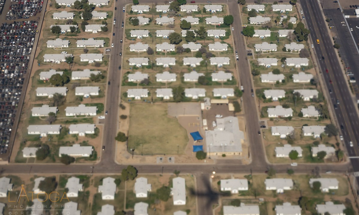 Pheonix Central City South Neighborhood from the Air