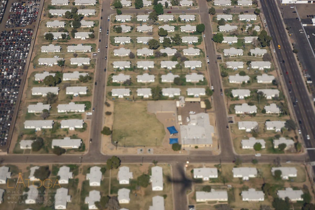 Aerial View of Pheonix Central City South Neighborhood