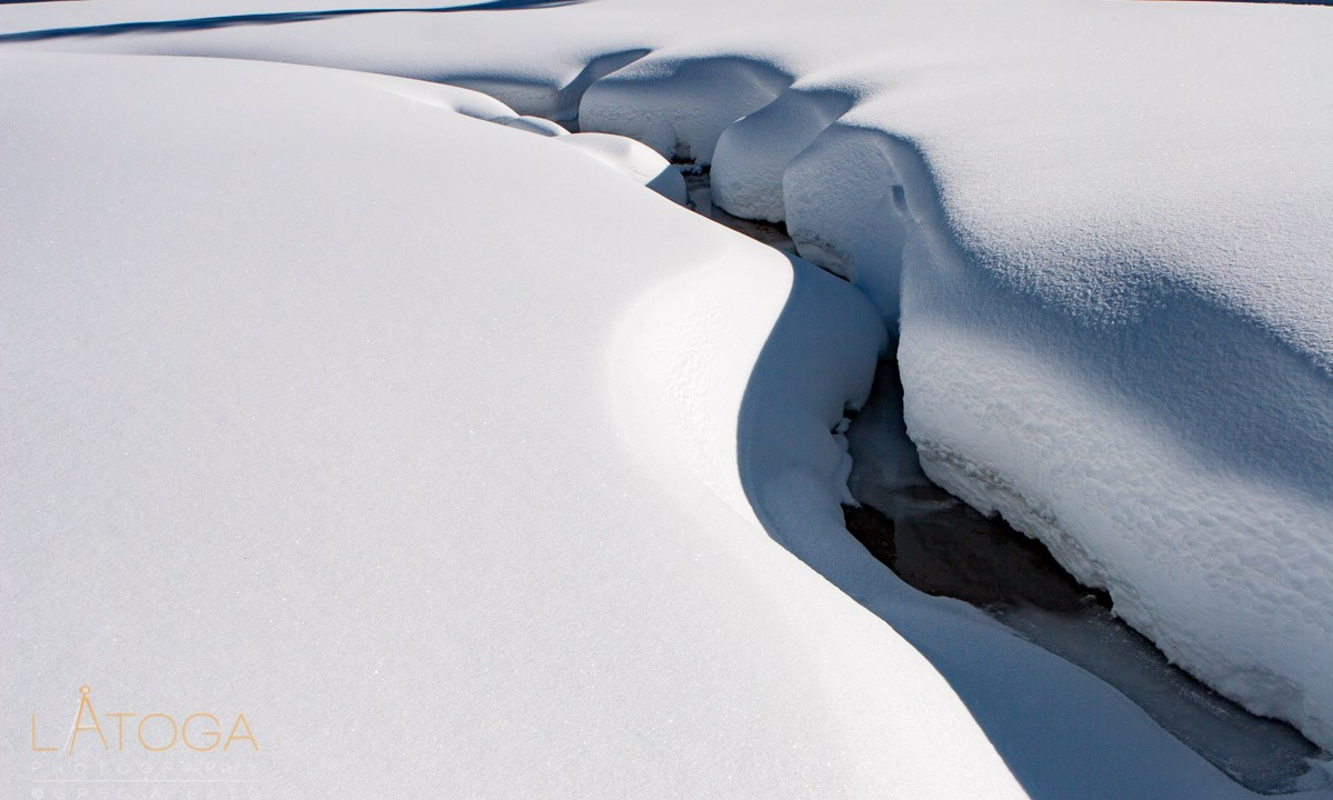 Meandering Snow Banks