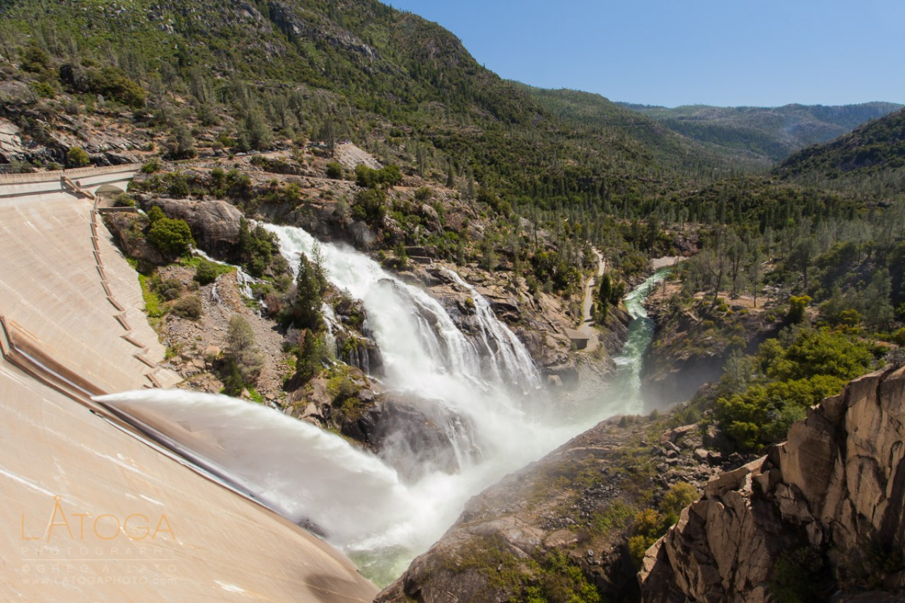 O'Shaughnessy Dam, Spillway, and Active Jet-Flow Gate