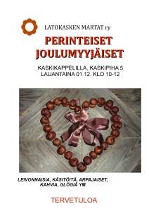 Latokasken Marttojen joulumyyjäiset 1.12.2018