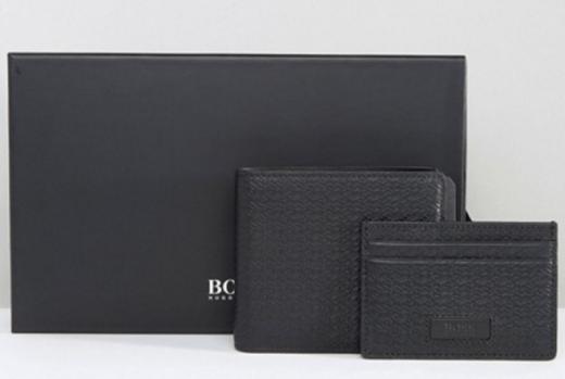 Un coffret de portefeuilles (modèle : Hugo Boss sur Asos - 171,99€)