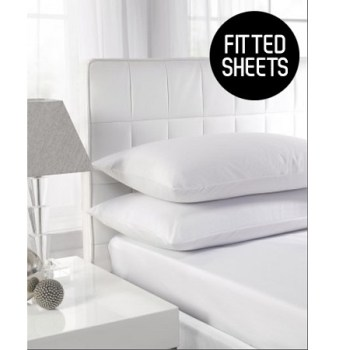 180 TC Extra Deep Percale Single Fitted Sheets (Up To 16'')