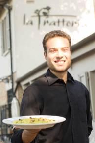 Luca Mazzoni, uno dei titolari del locale La Trattoria, ristorante romagnolo a Ravenna