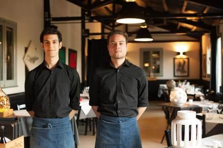 Matteo e Luca, i titolari del locale La Trattoria, ristorante romagnolo a Ravenna