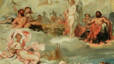 Une esquisse de plafond d'Eugène Devéria pour le Musée Fabre