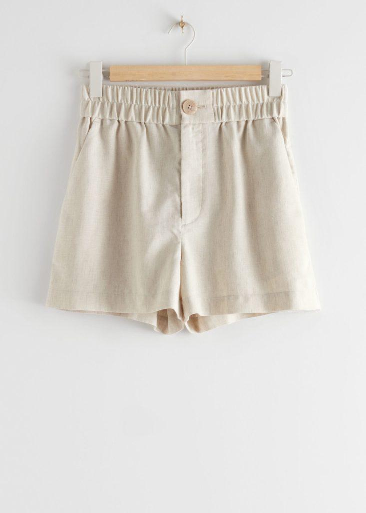 shorts de lino sotries