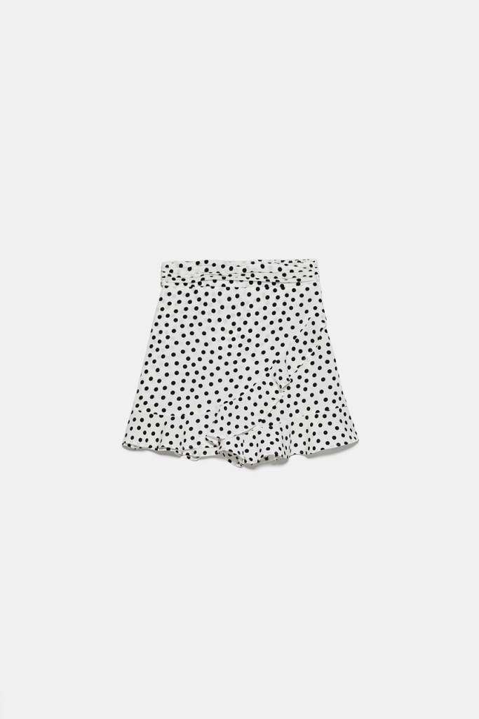 falda pantalon zara