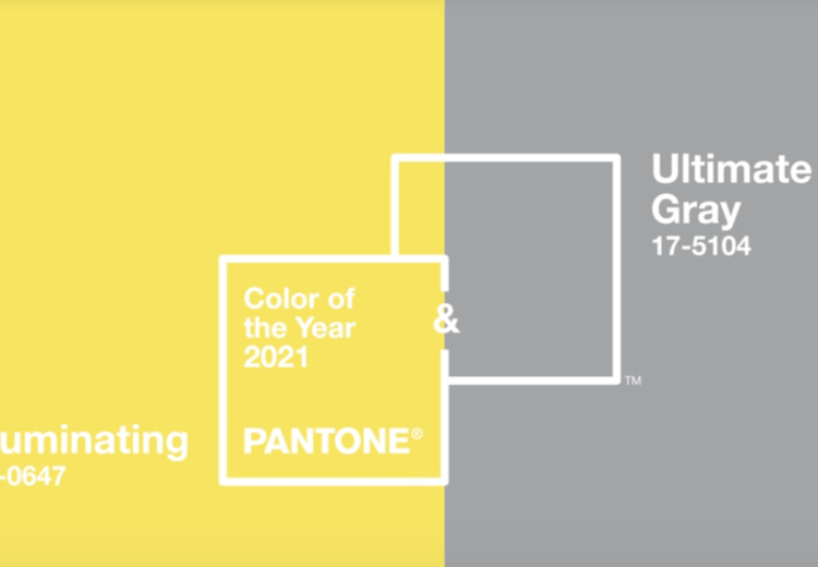 Amarillo Iluminating y Ultimate gray colores pantone para 2021