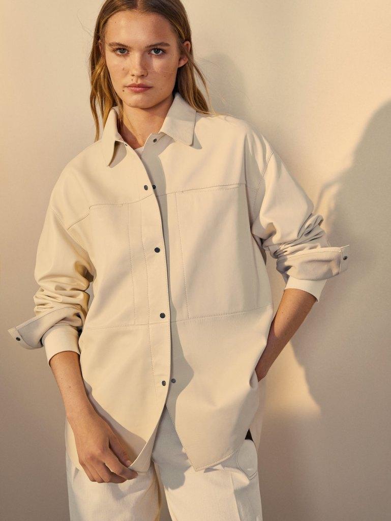 Camisa de piel de Massimo Dutti