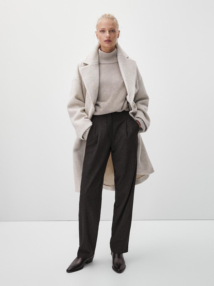 pantalones de pinzas de Massimo Dutti