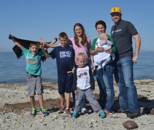 Our family visiting Antelope Island for the first time.