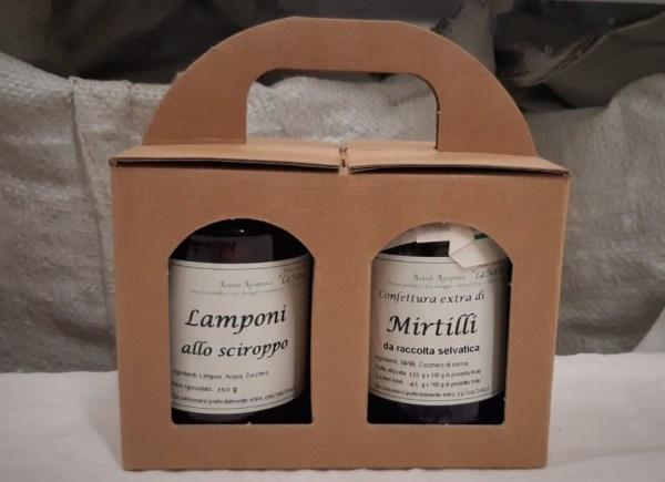 Confezione regalo due vasetti confetture biologiche di appennino