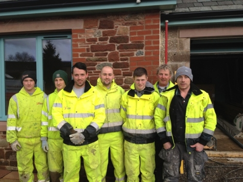 Caldbeck Site Team (L to R): Wayne Longman, Paul Broom, Craig Wilson, Ashleigh Fell, Shaun Clark, Jeff Wilson (Director) & Richard Marr
