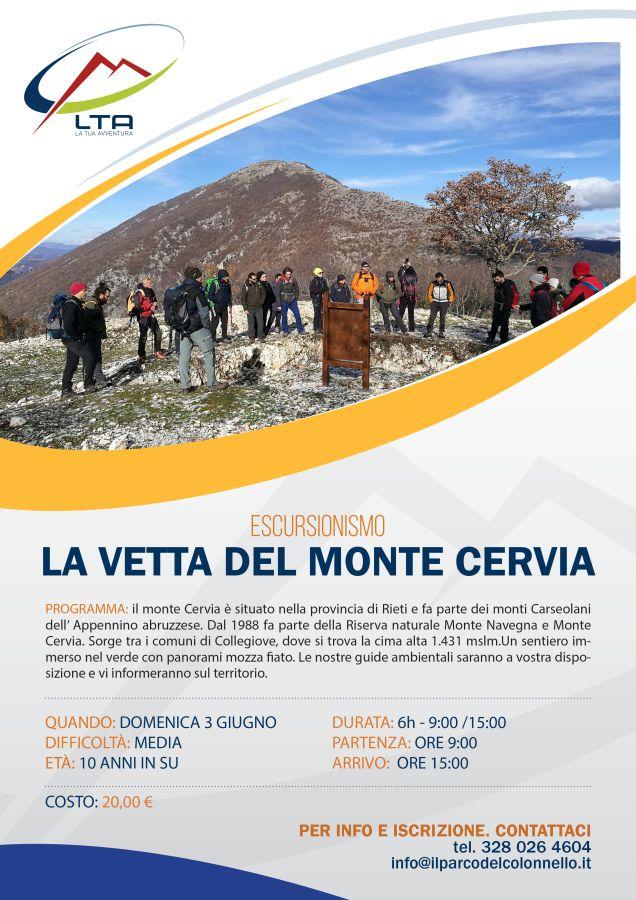 Escursione alla Vetta del Monte Cervia 03/06/2018