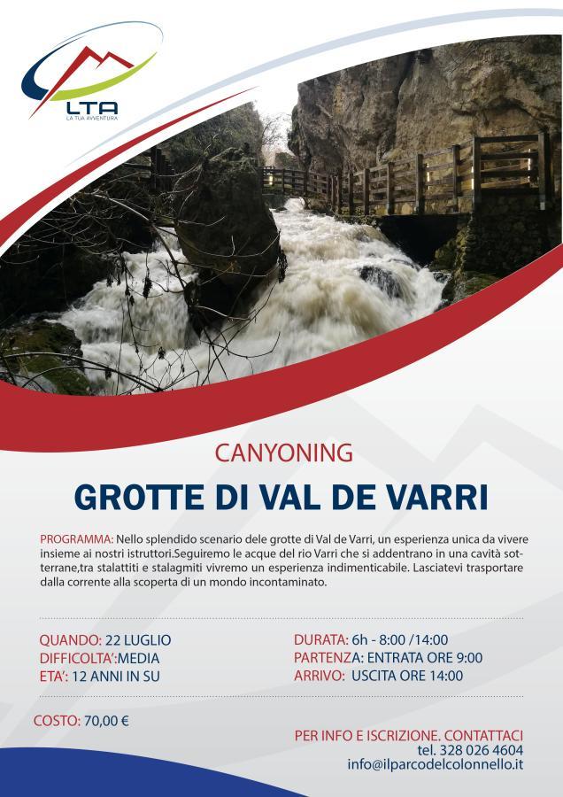 locandina Canyoning Grotte Val de Varri 22/07/2018