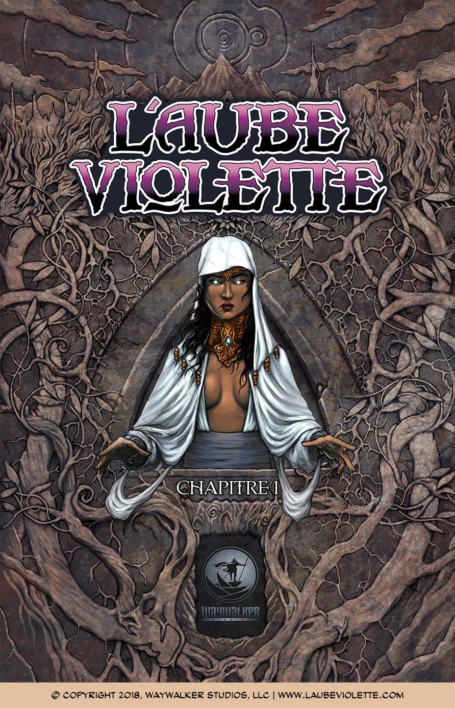 L'Aube Violette L'Exil: Couverture du Tome 1
