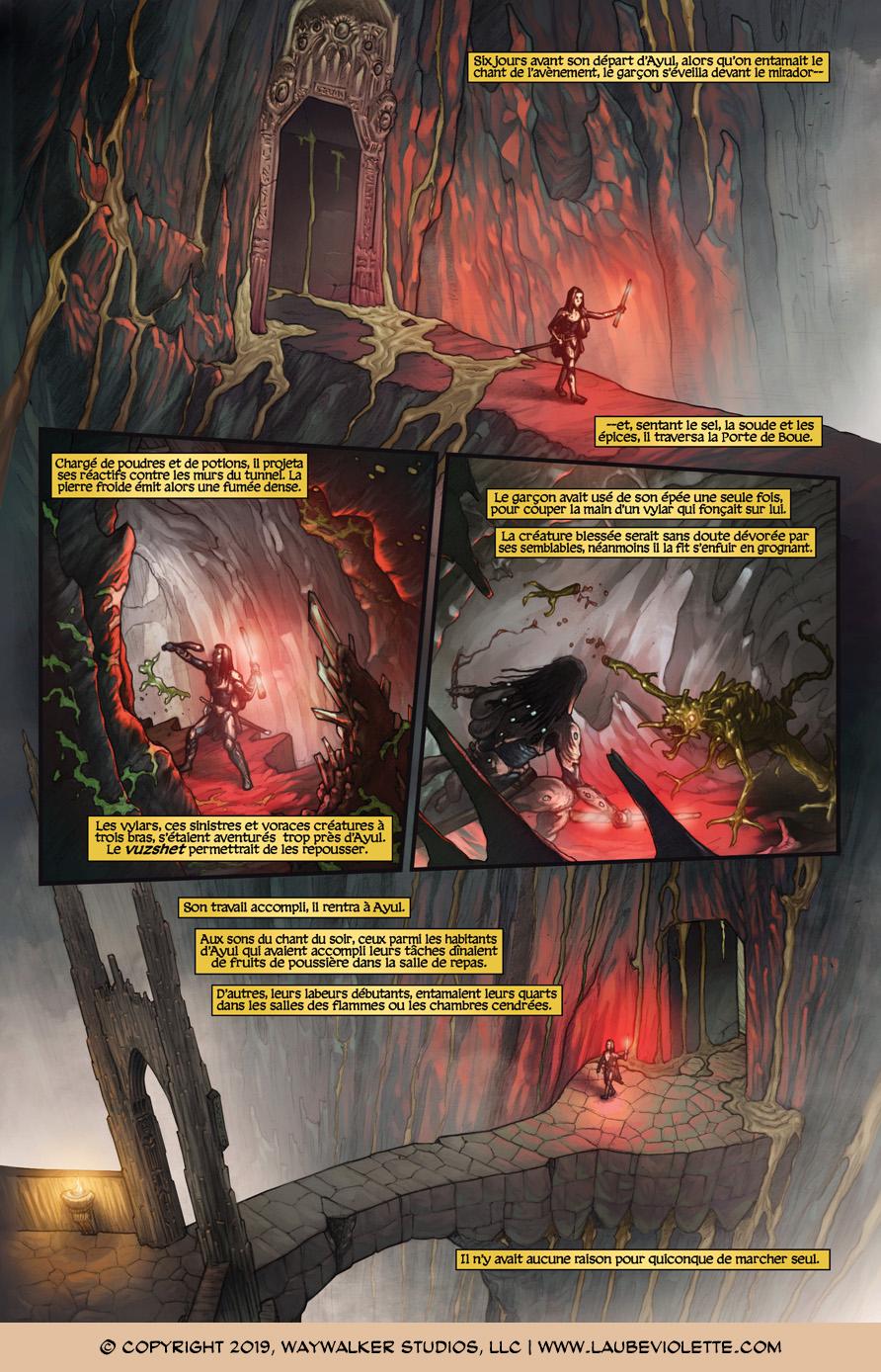 L'Aube Violette: L'Exil – Tome 4, Page 1
