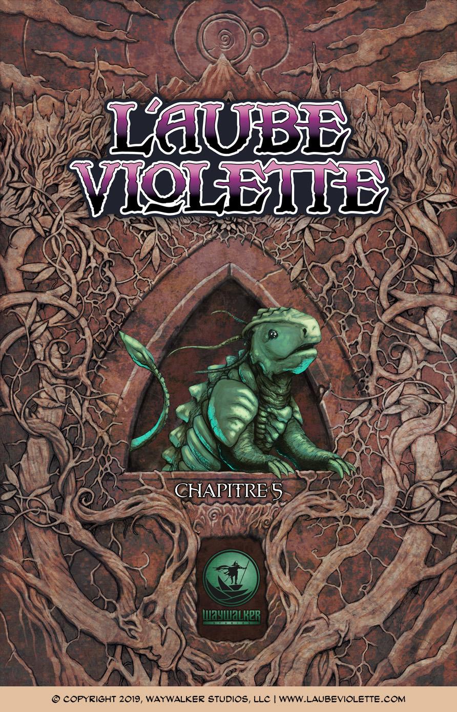 L'Aube Violette L'Exil: Couverture du Tome 5