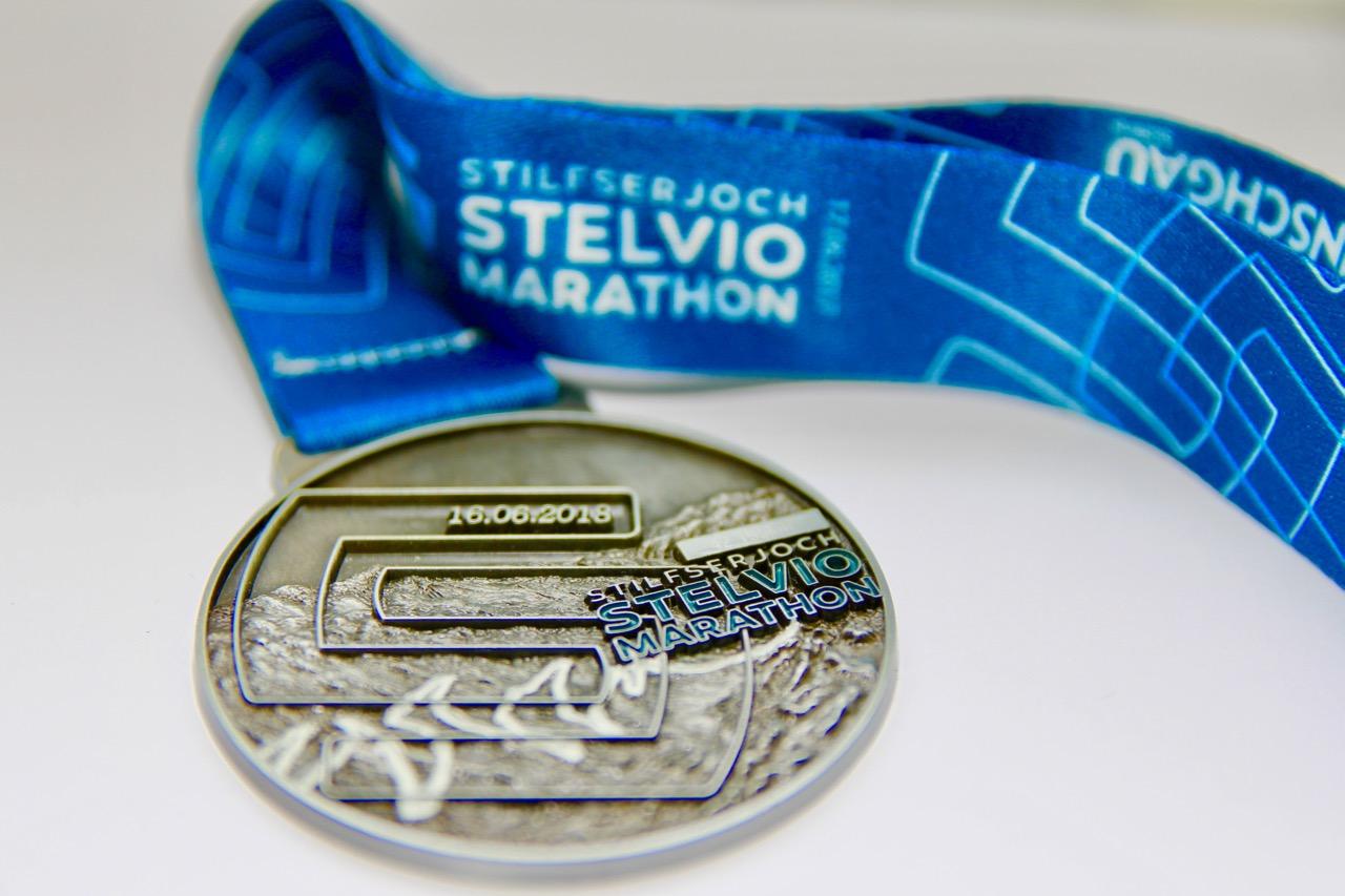 Die Medaille vom Stelio-Marathon 2018