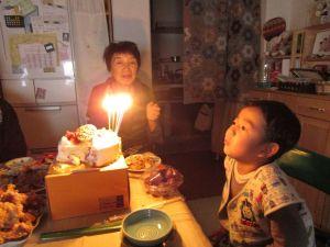 しおん5歳 誕生日5