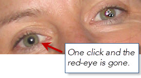 One Click And Red Eye Is Gone