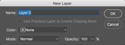 New Layer Dialog