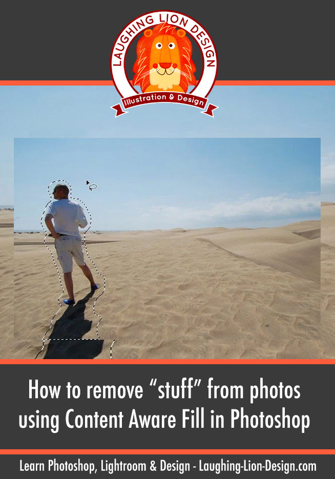 how to remove stuff from a photo using content aware fill in Photoshop