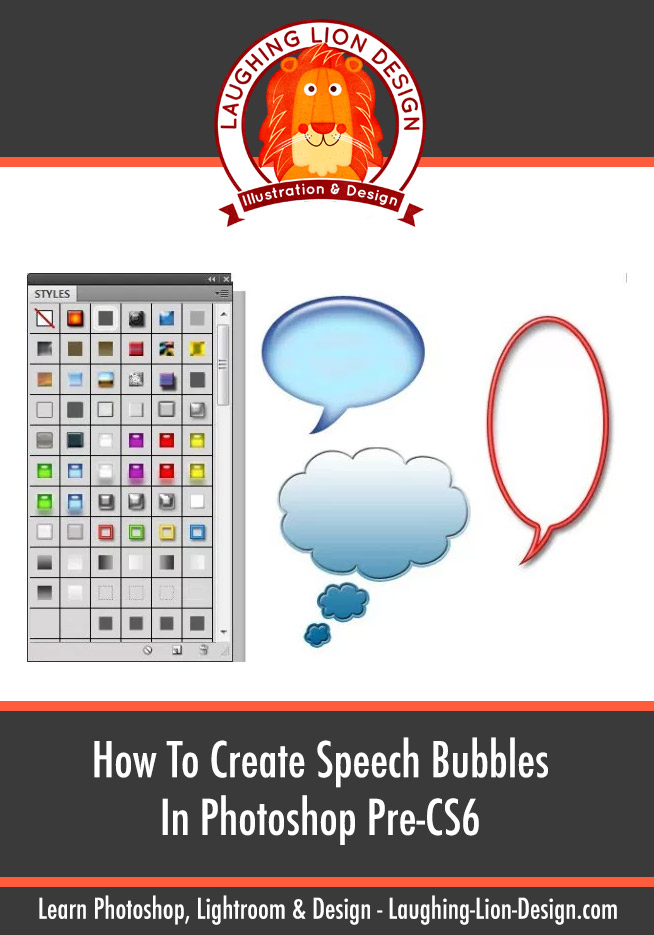 Creating speech bubbles in Photoshop using the Custom Shape Tool (Pre Photoshop CS6)