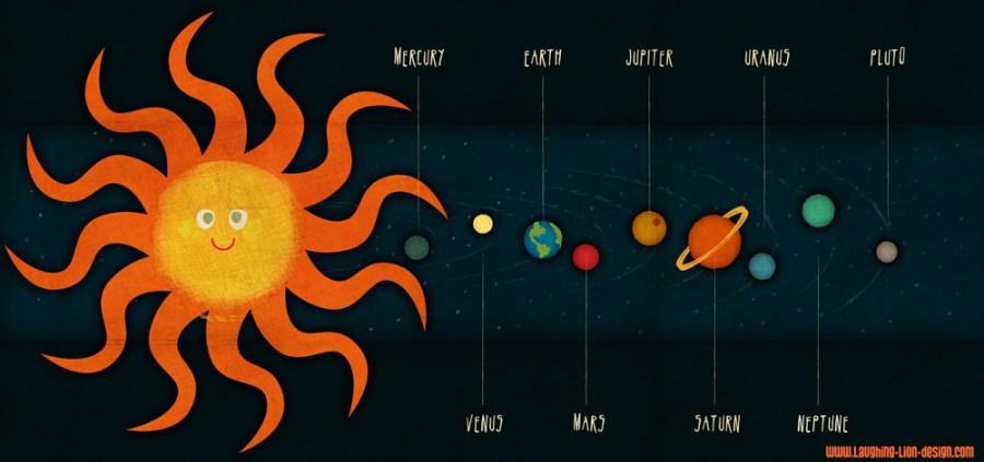 Solar System illustration by Jennifer Farley