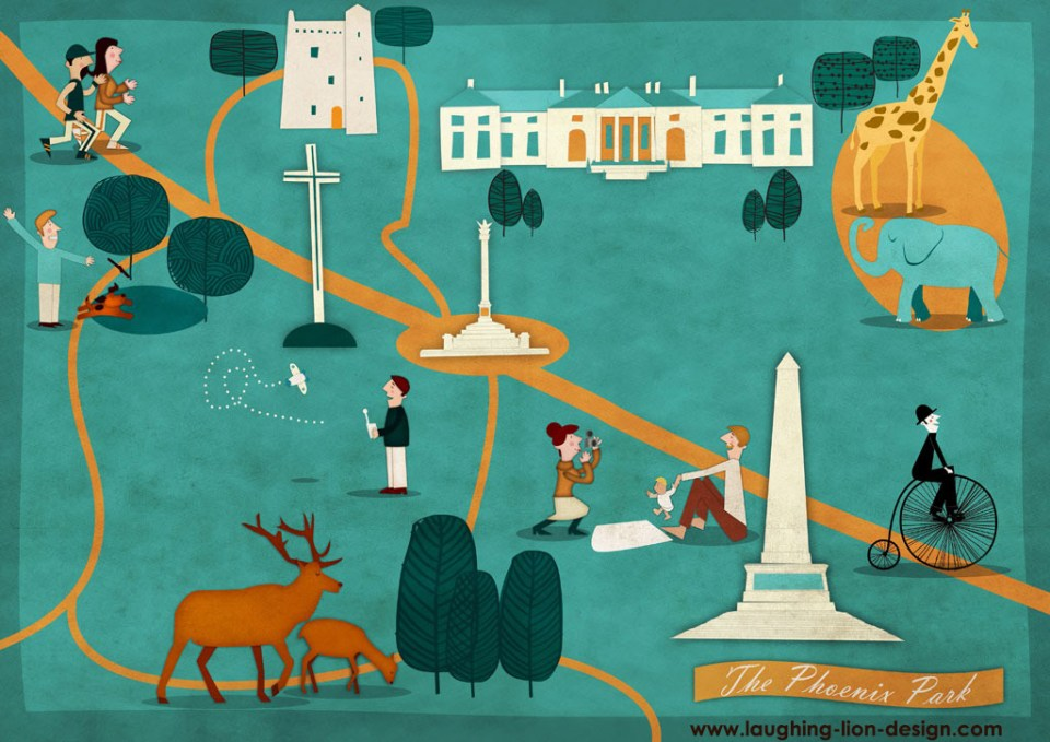 Uniquely Dublin Illustration by Jennifer Farley