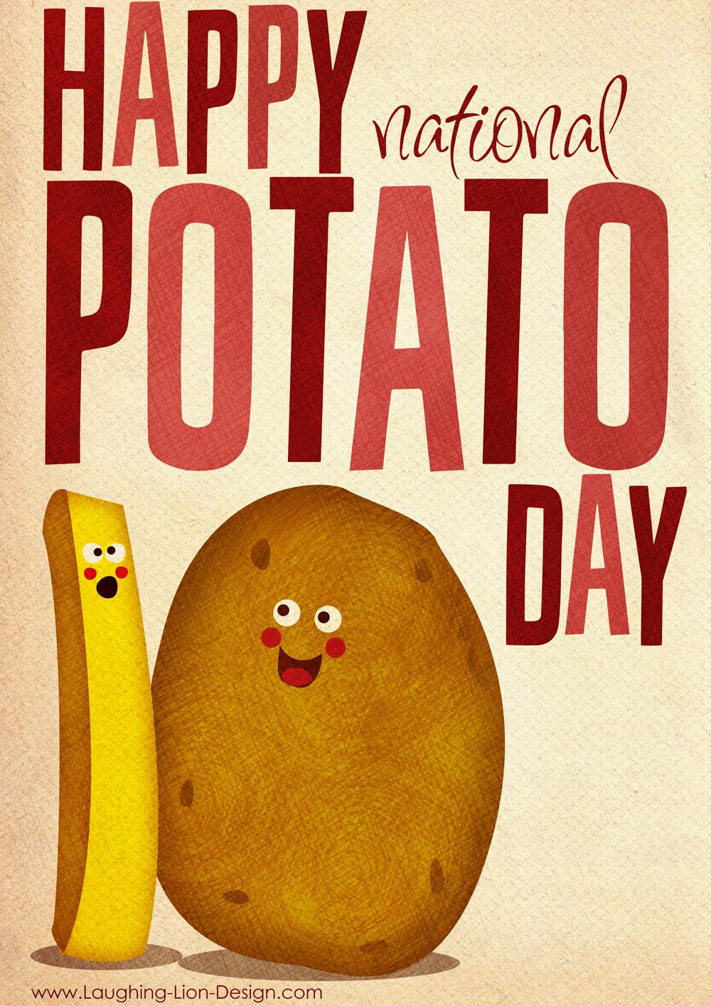 National Potato Day Illustration